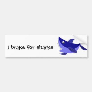 Arte de arreganho engraçada do tubarão adesivo para carro