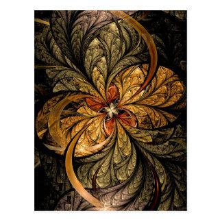 Arte de brilho do Fractal das folhas