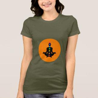 Arte de Chakra - camiseta da ioga