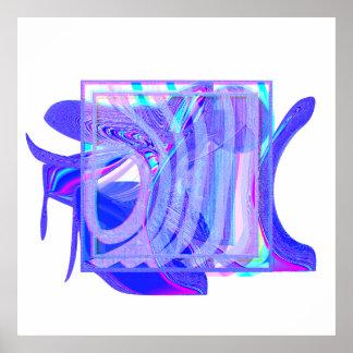 "arte de computador ""3387x3387"" abstrata pôster"