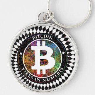 Arte de Cryptocurrency Digital do chaveiro de