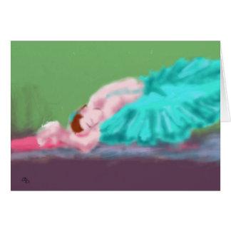 Arte de descanso do balé cartão