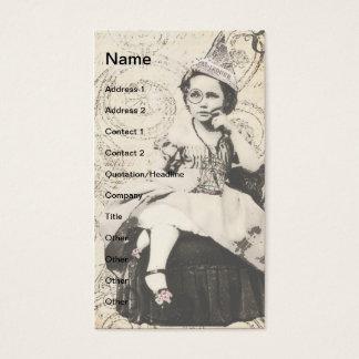 Arte de Digitas da menina do chapéu do jornal Cartão De Visitas