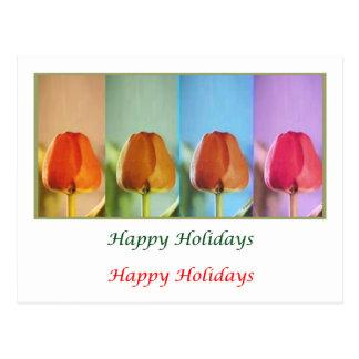 Arte de estalo do olho - mostra HappyHoliday da Cartão Postal