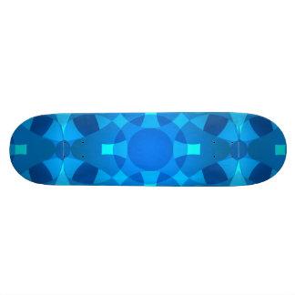 Arte de néon azul do skate de Pyschedelic do