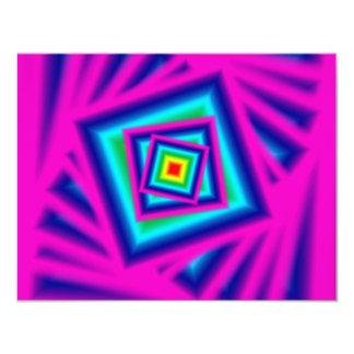 Arte de néon convite 10.79 x 13.97cm