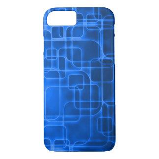 Arte de néon moderna do laser do azul capa iPhone 7