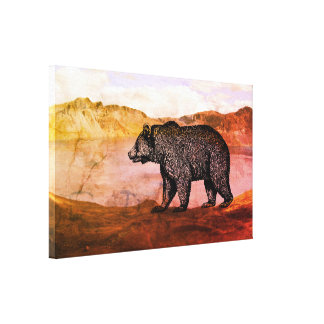Arte de passeio das canvas do urso de urso