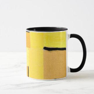 Arte de Paul Klee: Caráteres no amarelo Caneca