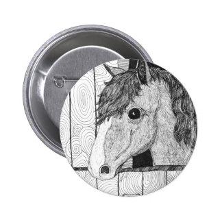 Arte de solo do cavalo bóton redondo 5.08cm