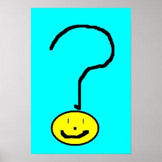 Arte de sorriso de Emoji Digital do ponto de Poster