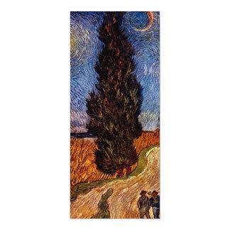 Arte de Van Gogh que pinta o céu da árvore da Convite 10.16 X 23.49cm