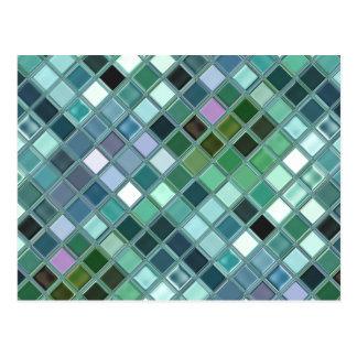 Arte de vidro do azulejo de mosaico da praia cartão postal