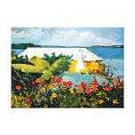 Arte de Winslow Homer: Jardim e bungalow Impressão Em Canvas