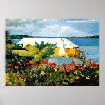 Arte de Winslow Homer: Jardim e bungalow Impressão