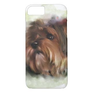 Arte digital bonito do cão de filhote de cachorro capa iPhone 8/ 7