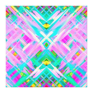 Arte digital colorida das canvas que espirra G473