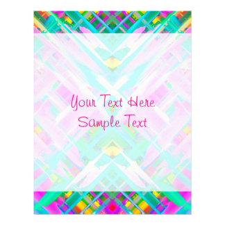 Arte digital colorida do cabeçalho que espirra papel timbrado