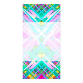 Arte digital colorida do cartão com fotos que