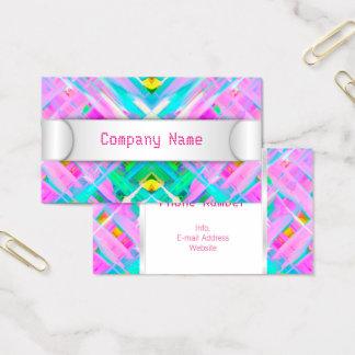 Arte digital colorida do cartão de visita que