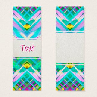 Arte digital colorida do cartão do marcador que