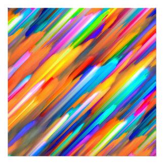 Arte digital colorida do impressão da foto que