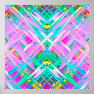 Arte digital colorida do poster que espirra G473 Pôster
