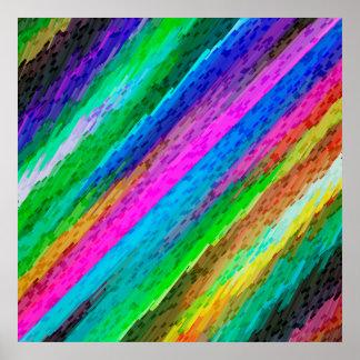 Arte digital colorida do poster que espirra G478 Pôster