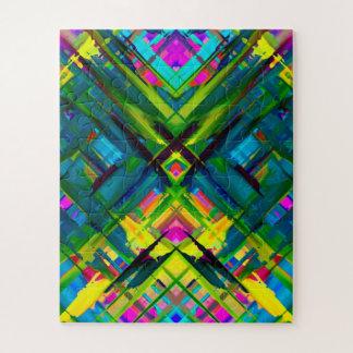Arte digital colorida do quebra-cabeça que espirra