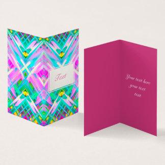 Arte digital colorida dobrada do cartão que