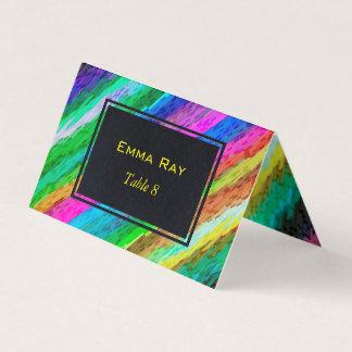 Arte digital colorida dobrada G478 do cartão do