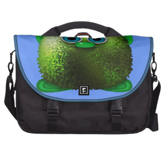 Arte distorcido bonito do personagem de desenho an bolsa para laptop