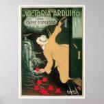 Arte do anúncio da bebida do café do vintage de Vi Impressão
