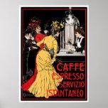 Arte do anúncio da bebida do café do vintage do ca posteres