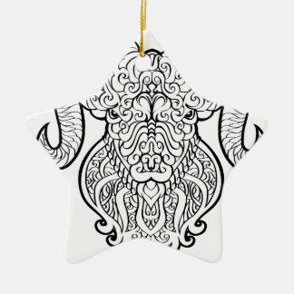 Arte do Aries Ornamento De Cerâmica Estrela