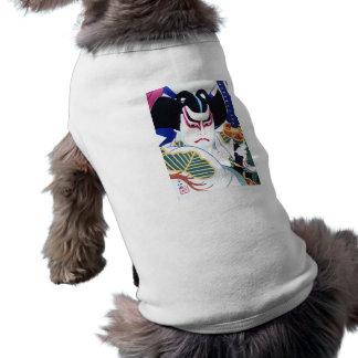 Arte do ator de Kabuki do japonês pelo 名取春仙 de Camisa Sem Mangas Para Cachorro