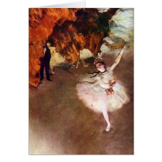 Arte do balé do vintage, bailarina de Prima por Cartão Comemorativo