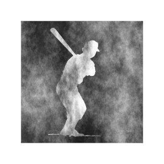 Arte do basebol impressão em tela