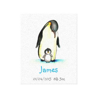 Arte do berçário com pinguim - personalize com