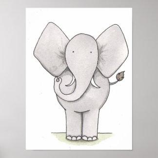 Arte do berçário do elefante poster