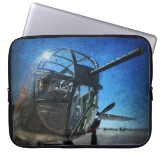 Arte do bombardeiro B-25 Sleeve Para Laptop