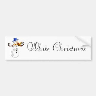 Arte do boneco de neve do Natal Adesivo Para Carro