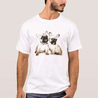 Arte do buldogue francês camiseta