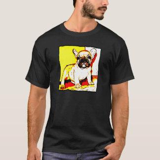 Arte do buldogue francês camisetas