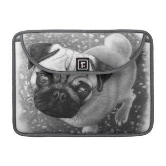 Arte do cão de filhote de cachorro do Pug Capa Para MacBook