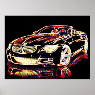 Arte do carro posters