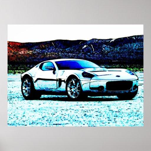 Arte do carro poster