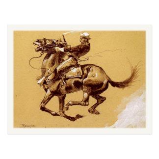 Arte do cartão com pintura de Frederic Remington
