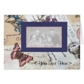 Arte do cartão do tecido