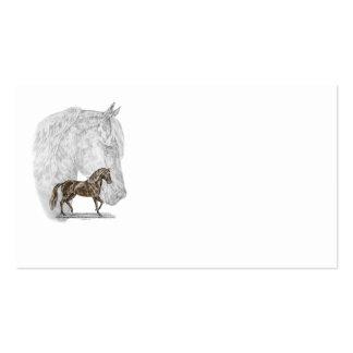 Arte do cavalo de Paso Fino Cartão De Visita